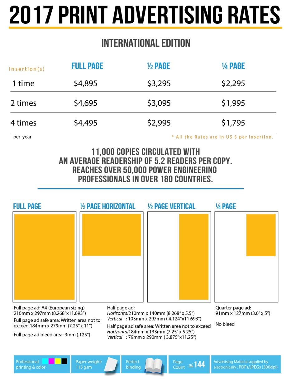 广告价格 广告价格 2017 INMR Print Ad Rates Specifications