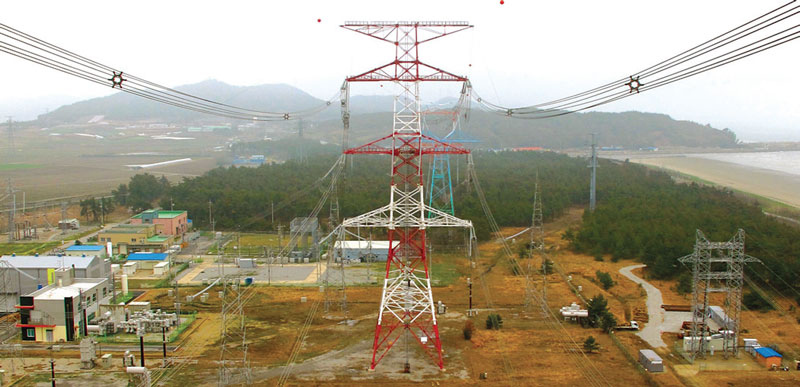 Test line at Gochang in Korea where 765 kV insulators are being continuously monitored and compared in a coastal environment. Photos insulator South African Utility Tested Insulator Performance Test line at Gochang