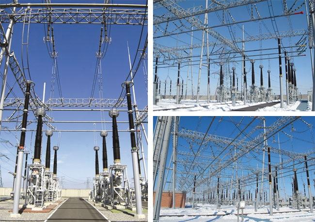 Views of the 500 kV switchyard at Jindongnan. 1000kv项目为今后特高压交流输电奠定了基础 1000kV项目为今后特高压交流输电奠定了基础 Pic324