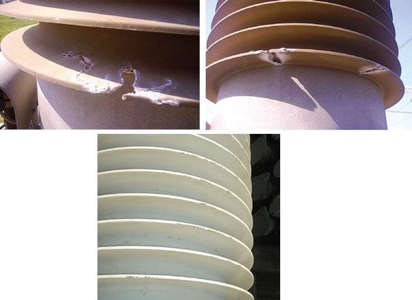 Constanta市附近的变电站400kV变压器上的 LSR外套出现严重的蚀损现象。 罗马尼亚电网运营商计划改造关键的变电站 罗马尼亚电网运营商计划改造关键的变电站 Pic712