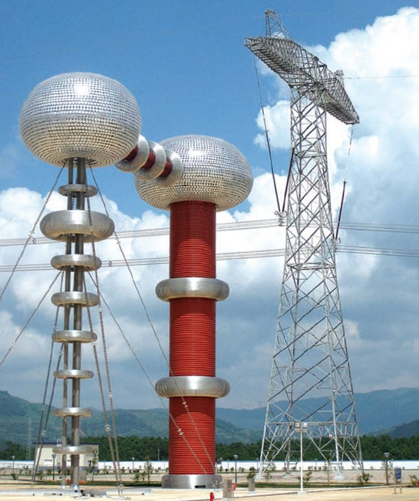 Composite hollow core insulators used for AC transformer (2250 kV, 2A). Test Station Aims , Assess Insulation Performance , High Altitudes, test, station, line,site,  testing New Test Station Aims to Assess Insulation Performance at High Altitudes Pic41