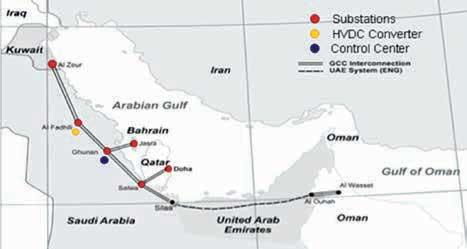 图1:'能源高速公路'连接了海湾周边国家的电网系统,包括 高压直流换流站和控制中心。 400kV超级电网互联阿拉伯海湾各国的模块化高压直流系统 400kV超级电网互联阿拉伯海湾各国的模块化高压直流系统 Article 2 of the week Apr 22 4