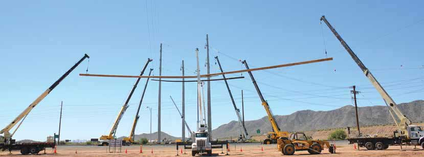 Stringing of overhead ground wire and installation of special structures to protect passing highway. 500 kv 500 kV Line Allowed U.S. Utility to Compare Performance of Glass Insulators & Hardware Article 2 of the week Apr 29 17