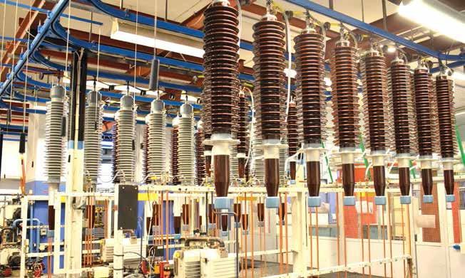 52-170kV套管 的油浸渍工序 在流水线上完 成 ABB ABB对套管生产及测试的现代化进行投资(第一部分) Article 1 for enewsletter june 9 6