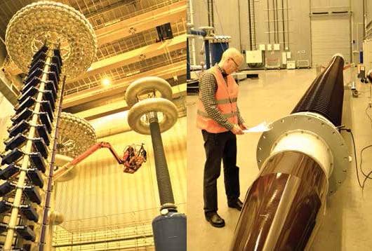 Jonsson在检查安排测试的特高压套管 ABB ABB对套管生产及测试的现代化进行投资(第一部分) bushings