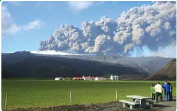 Eruption of Eyjafjallajökull in Iceland.