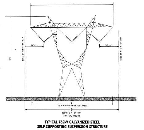 Typical AEP galvanized steel 特高压项目成为美国公司765kV线路设计发展中的亮点 特高压项目成为美国公司765kV线路设计发展中的亮点 Typical AEP galvanized steel