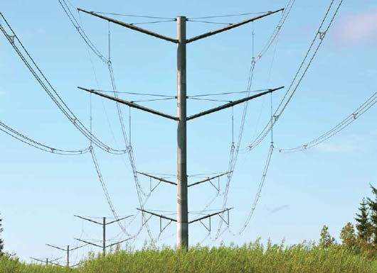 Alignment of structures along transmission line can be as important as aesthetics of each structure. line Aesthetic Design Helped Danish TSO Obtain Approval for New 400 kV Line Alignment of structures