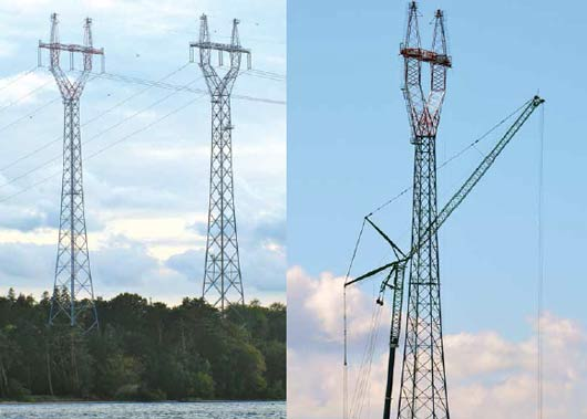 End of an era for landmark 120 m lattice towers once connecting Jutland to Fyn. line Aesthetic Design Helped Danish TSO Obtain Approval for New 400 kV Line End of an era for landmark