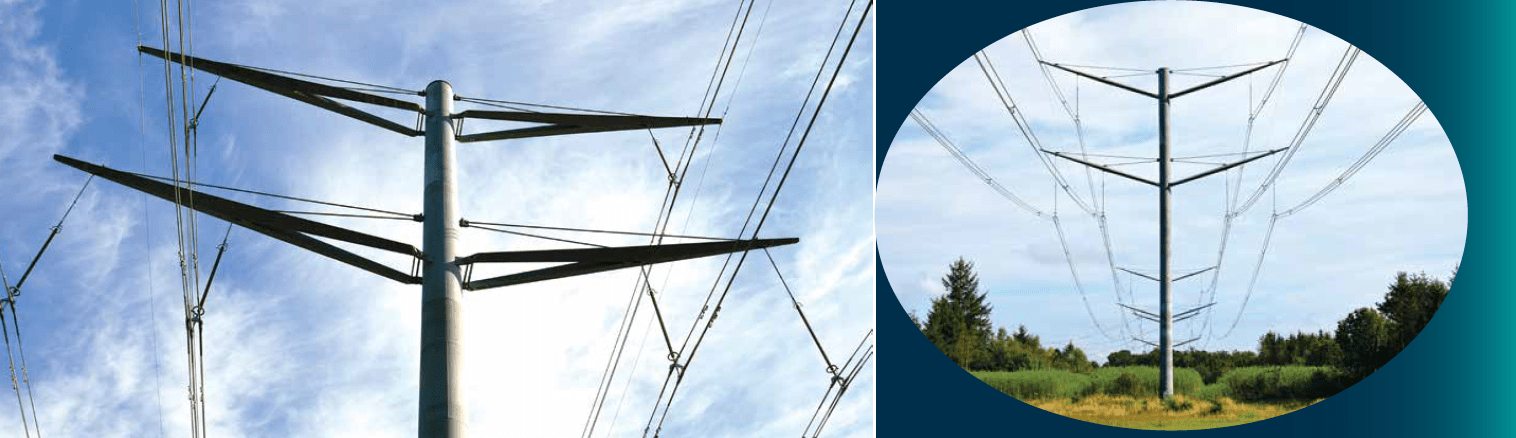 Eagle pylons were designed for elegance and calm in a mostly rural landscape. line Aesthetic Design Helped Danish TSO Obtain Approval for New 400 kV Line Screen Shot 2017 09 08 at 16