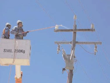 cleaninginsulators insulator Australian Utility Confronted Insulator Pollution cleaninginsulators