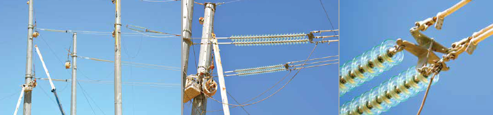 Conductor stringing of tubular angle towers on 500 kV + 230 KV Pinal Central to Pinal West section of line. 500 kv 500 kV Line Allowed U.S. Utility to Compare Performance of Glass Insulators & Hardware Conductor stringing of tubular angle towers on 500230 kV Pinal Central to Pinal West section of line