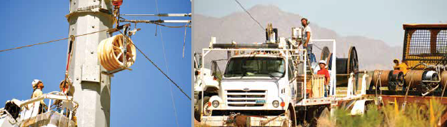 500 kv 500 kV Line Allowed U.S. Utility to Compare Performance of Glass Insulators & Hardware Stringing of overhead ground wire and installation of special structures to protect passing highway