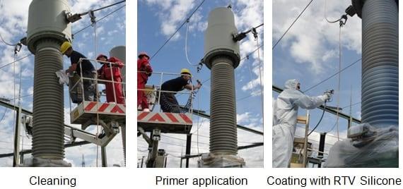 Procedure of coating. rtv silicone coating Applying RTV Silicone Coatings to Restore Degraded Composite Housings Coating procedure