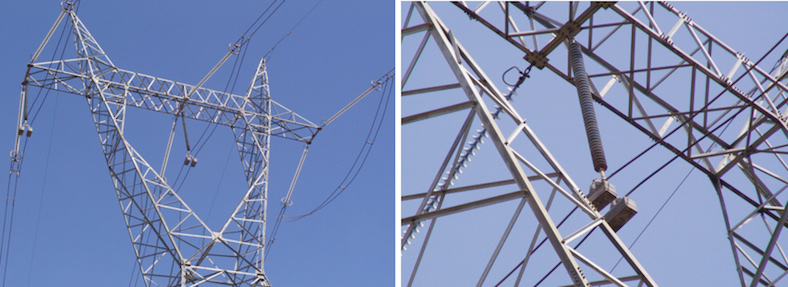 General view of phase B insulator on tower no. 2. corona ring Failures on 400 kV Lines in Venezuela Highlighted Importance of Corona Rings on Composite Insulators Screen Shot 2016 01 20 at 11