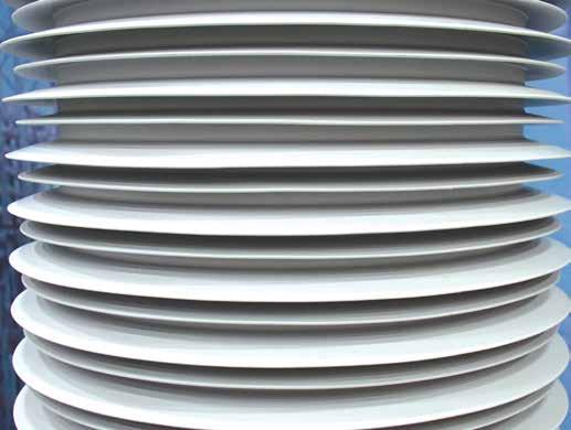 昆山工厂设计的HTV硅橡胶绝缘子 的爬电系数为4.2, 而瑞士沃伦工厂 生产的绝缘子的爬电系数为3.8。 新工厂将目标对准日益增长的复合空心绝缘子市场 新工厂将目标对准日益增长的复合空心绝缘子市场 Topic 1 Jan 180005