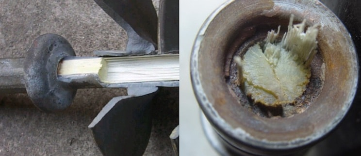 Example of brittle fracture failure with characteristic smooth surface at point of rod failure composite insulator A Look to the Future of Composite Insulator Technology tpc1examp copy