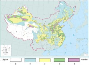 SGCC pollution distribution map (2011). Classifying Pollution Severity for HVAC & HVDC in China pollution severity Classifying Pollution Severity for HVAC & HVDC in China tpc2 fig4 300x221
