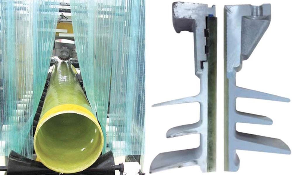 采用悬式锯以最大化的精度切 割管材。昆山工厂生产的管材 (左图) 的厚度与本地主要竞争对 手管的厚度的比较。 新工厂将目标对准日益增长的复合空心绝缘子市场 新工厂将目标对准日益增长的复合空心绝缘子市场 xfgvsfdv