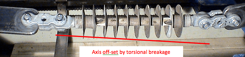 Fig. 1: Composite insulator electrically failed by combined flashover and flashunder caused by torsional rod crack.  guide for handling composite insulators: update Guide for Handling Composite Insulators: Update Screen Shot 2016 04 15 at 4