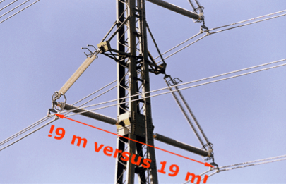 Fig. 4: World's first 420 kV compact line, in Switzerland. composite insulators Line Compaction Using Composite Insulators: Current Situation & Future Outlook Screen Shot 2016 05 20 at 11