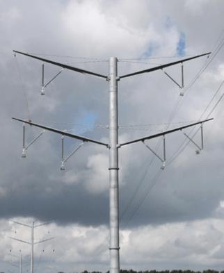 Fig. 10: Eagle pylon (420 kV) in Denmark. composite insulators Line Compaction Using Composite Insulators: Current Situation & Future Outlook Screen Shot 2016 05 20 at 11