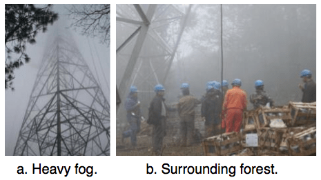 Fig. 2: Surrounding environment of tower #407 on Chusui Line. corrosion Corrosion of Disc Insulators on DC Lines in China Screen Shot 2016 05 27 at 10