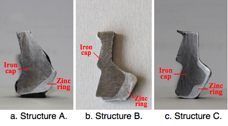 Fig. 16: Structures of different insulators' zinc rings. corrosion Corrosion of Disc Insulators on DC Lines in China Screen Shot 2016 05 27 at 11