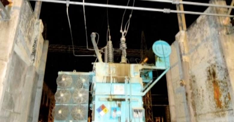 Fig. 14: Failure of 230 kV bushing in KM 20 substation. housed bushings Polymeric Housed Bushings: Utility Viewpoint in a Regulated Market Screen Shot 2016 06 17 at 10