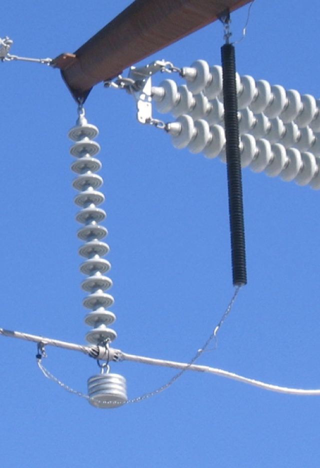 Fig. 2: Example of polymer-housed LSA. line arrester Non-Gapped Line Arresters Screen Shot 2016 06 17 at 11