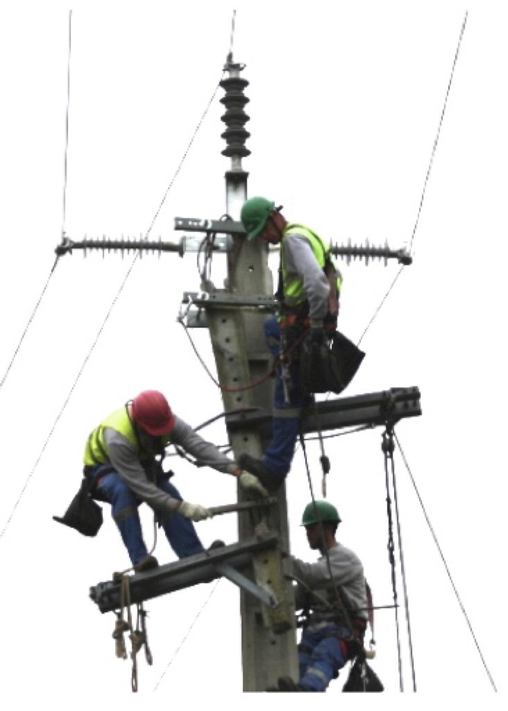 Concrete Meter Pole : Emergency repair for mv networks