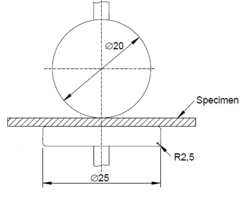 Fig. 1: Sphere-plate-arrangement as it is proposed in Ed. 3 of IEC 60243. (Graphic: Wacker Chemie AG). electrical strength Improved Measurement of Electrical Strength Screen Shot 2016 06 23 at 09