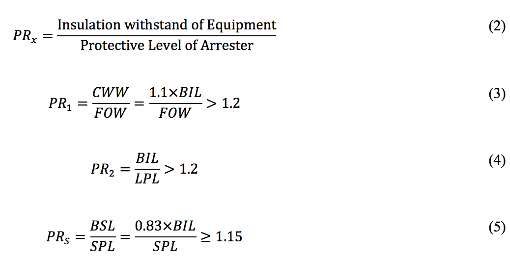 Note - Values for FOW, LPL, & SPL can be obtained from the arrester manufacturer catalogue. standard Converting Arrester Standards to Understandable Utility Standards Screen Shot 2016 06 30 at 09