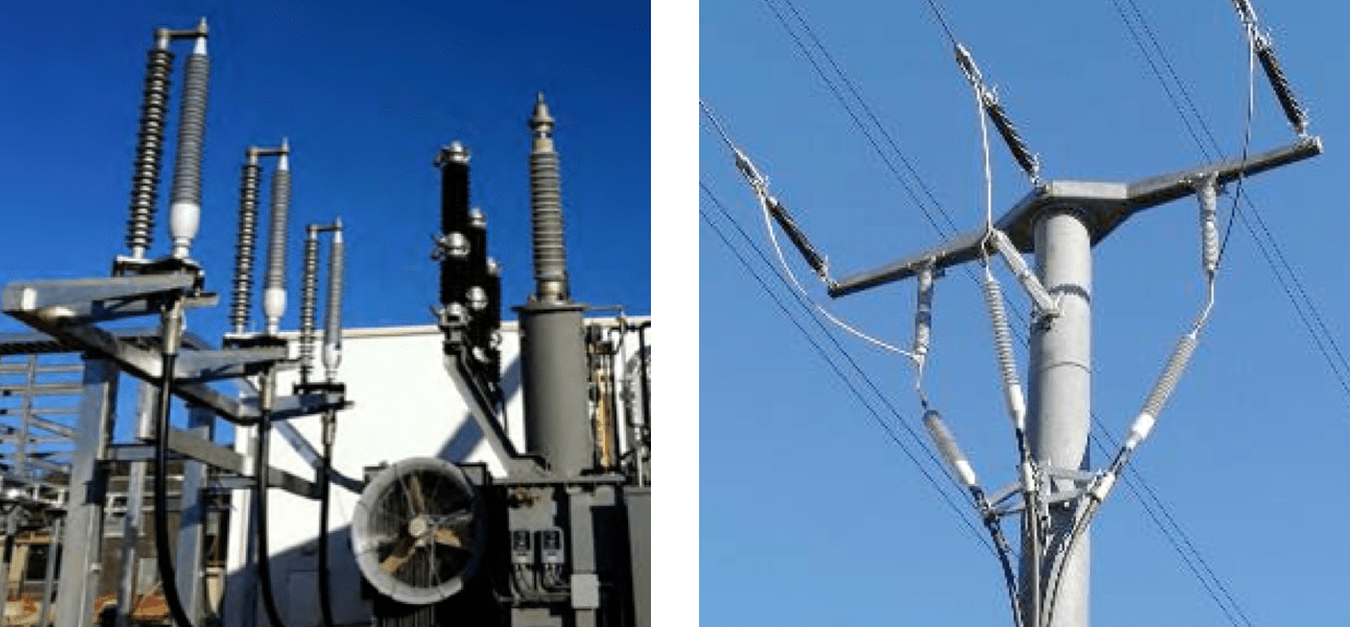 Fig. 1: Flexible and supported outdoor terminations up to 170 kV (complete dry type). cable accessories Adapting Cable Accessories for Onshore & Offshore Substations Screen Shot 2016 07 15 at 13