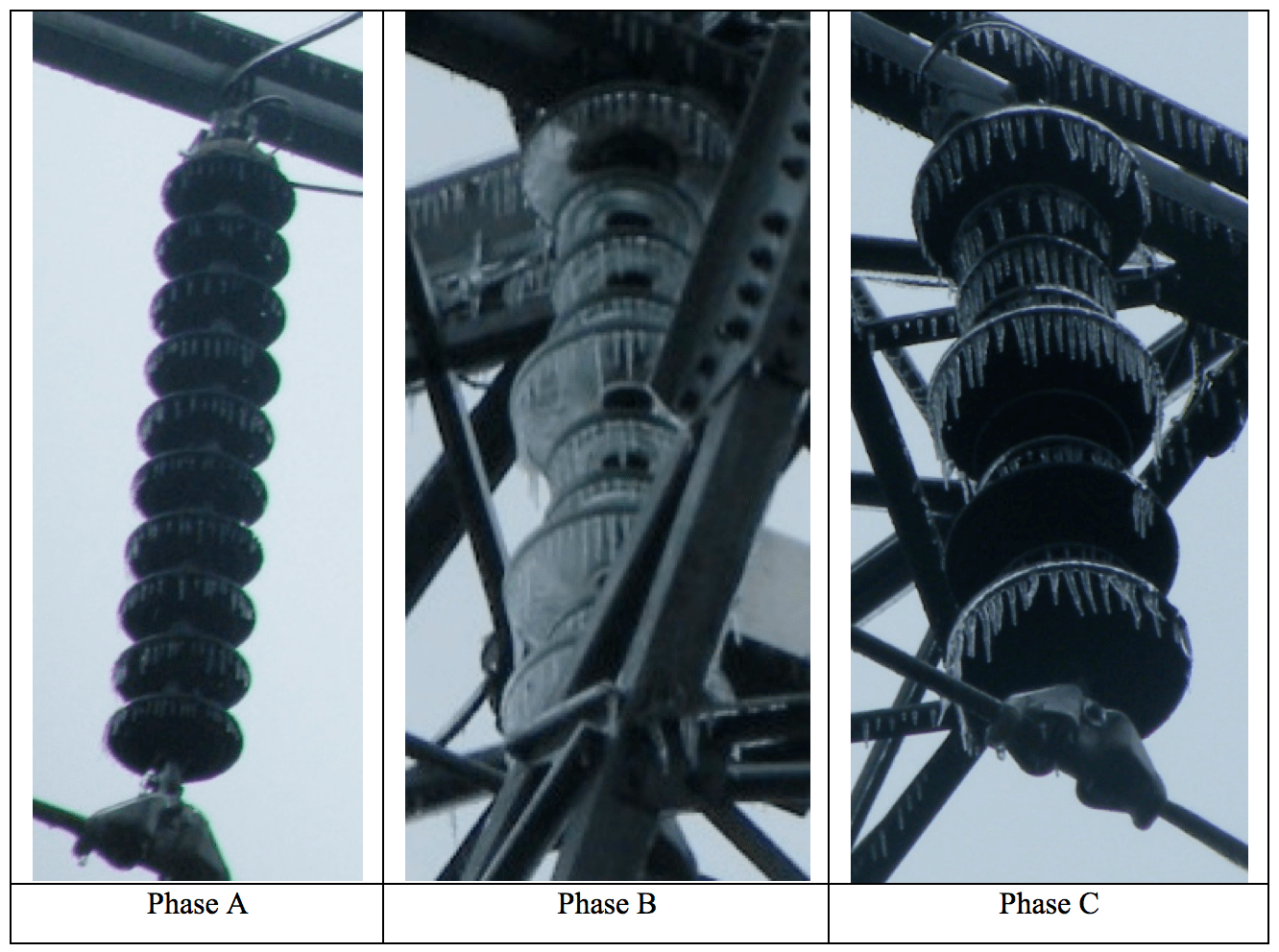 Fig. 12: Appearance of icing on insulator strings on 110 kV Yangdian Line in Guangdong) ice accretion Semi-Conductive Coatings to Limit Ice Accretion on Insulators Screen Shot 2016 09 30 at 12