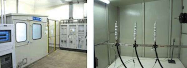 Example of salt fog test chamber with installed terminations. CLICK TO ENLARGE cable termination Testing Cable Terminations Under Polluted Conditions Screen Shot 2016 10 21 at 11
