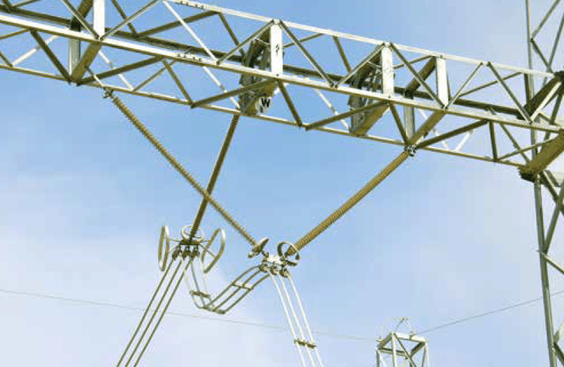 Incoming line at 765 kV Sterrekus Substation includes separate corona protection for insulators and hardware. insulator South African Utility Tested Insulator Performance Screen Shot 2016 11 14 at 09
