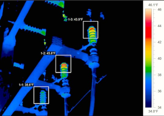 thermal imaging Thermal Imaging of Arresters Photo for article linked to bottom photo Apr 23
