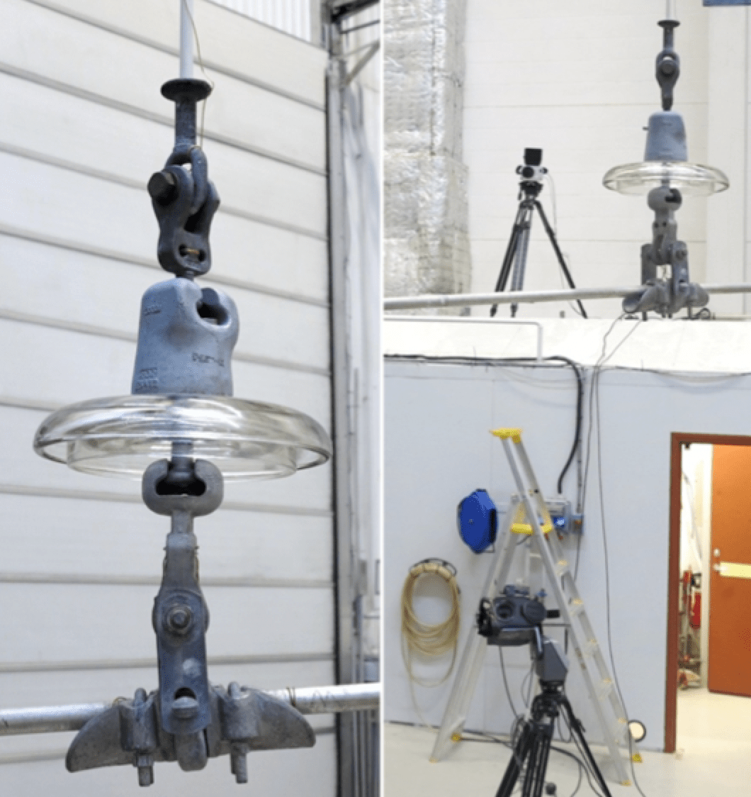 Typical laboratory set-up using two cameras. glass insulator Expanded Test Criteria to Ensure Glass Insulator Quality Typical laboratory set up using two cameras
