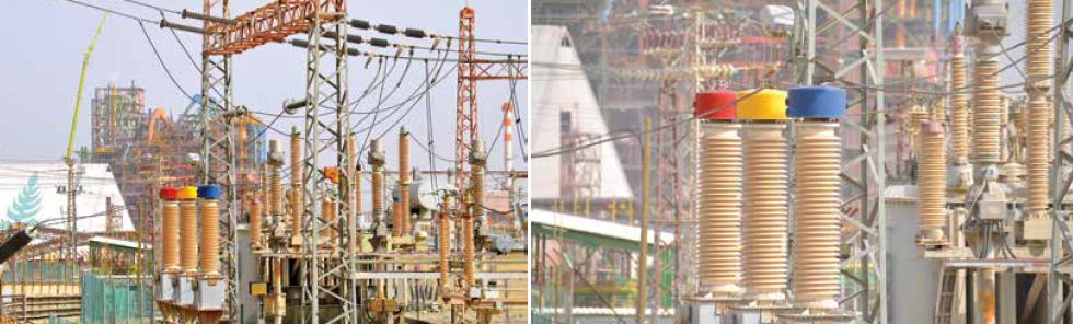 RTV silicone coated substation alongside heavy industry area on Dead Sea. bushings Composite Bushings with RTV Coatings Combat Pollution at Substation in Israel Screen Shot 2017 07 28 at 12