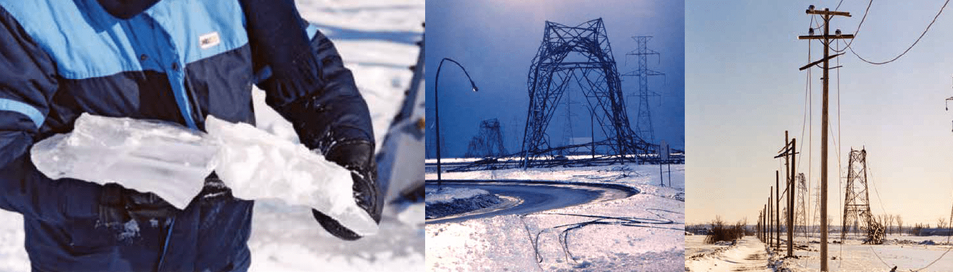 Storm Water Conductor : Reducing ice accretion using 'super hydrophobic coatings