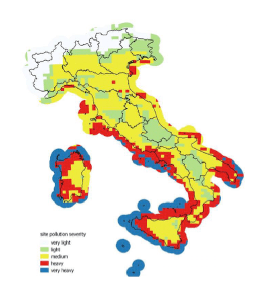 power system Designing for Reliability Versus Resilience New pollution map of Italy