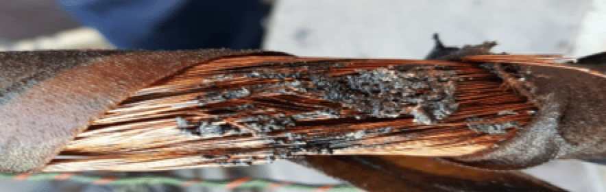 bushing Transformer Bushing Reliability Survey & Risk Mitigation Measures (Part 2 of 2) Arcing damages evident at draw lead conductor
