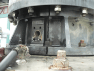 bushing Transformer Bushing Reliability Survey & Risk Mitigation Measures (Part 2 of 2) Evidence of cracks on metallic Al flange near test tap location