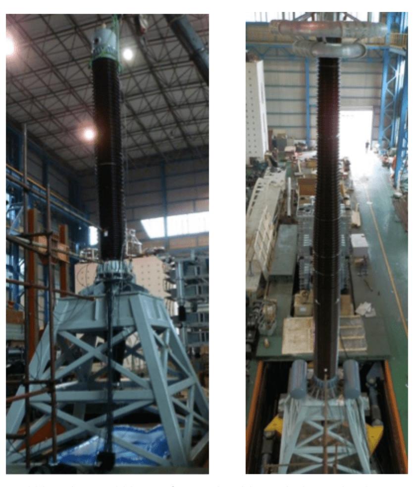 bushing Development & Testing Bushings for Seismic Conditions 550 kV and 1100 kV transformer bushings during seismic tests