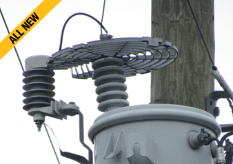 distribution system Best Practice in Lightning Protection for Distribution Systems Another example of effective wild life protector for arresters and bushings   Another example of effective wild life protector for arresters and bushings