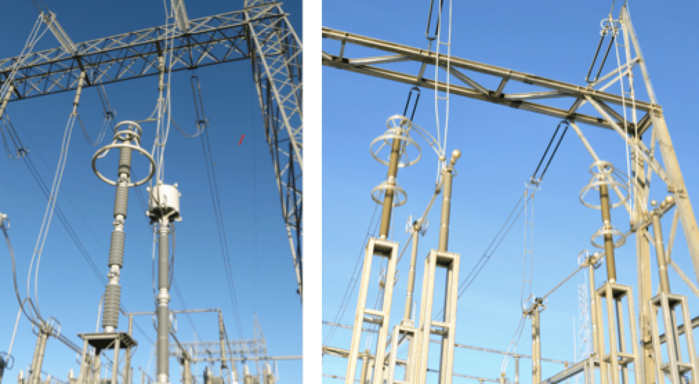 surge protection Substation Surge Protection Examples of line entrance arresters on 500 kV systems