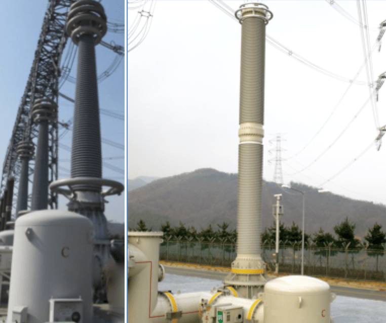 surge protection Substation Surge Protection GIS arresters and air insulated bushings