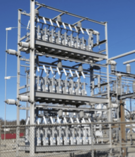 surge protection Substation Surge Protection Substation shunt bank with arrester protection