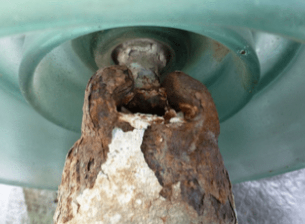substation insulator Achieving Confidence  in Line & Substation Insulators Corrosion of cap